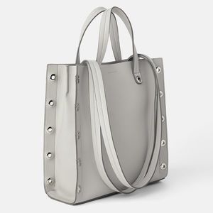 Zara Bags Leather Crossbody Shoulder Bag W Round Close